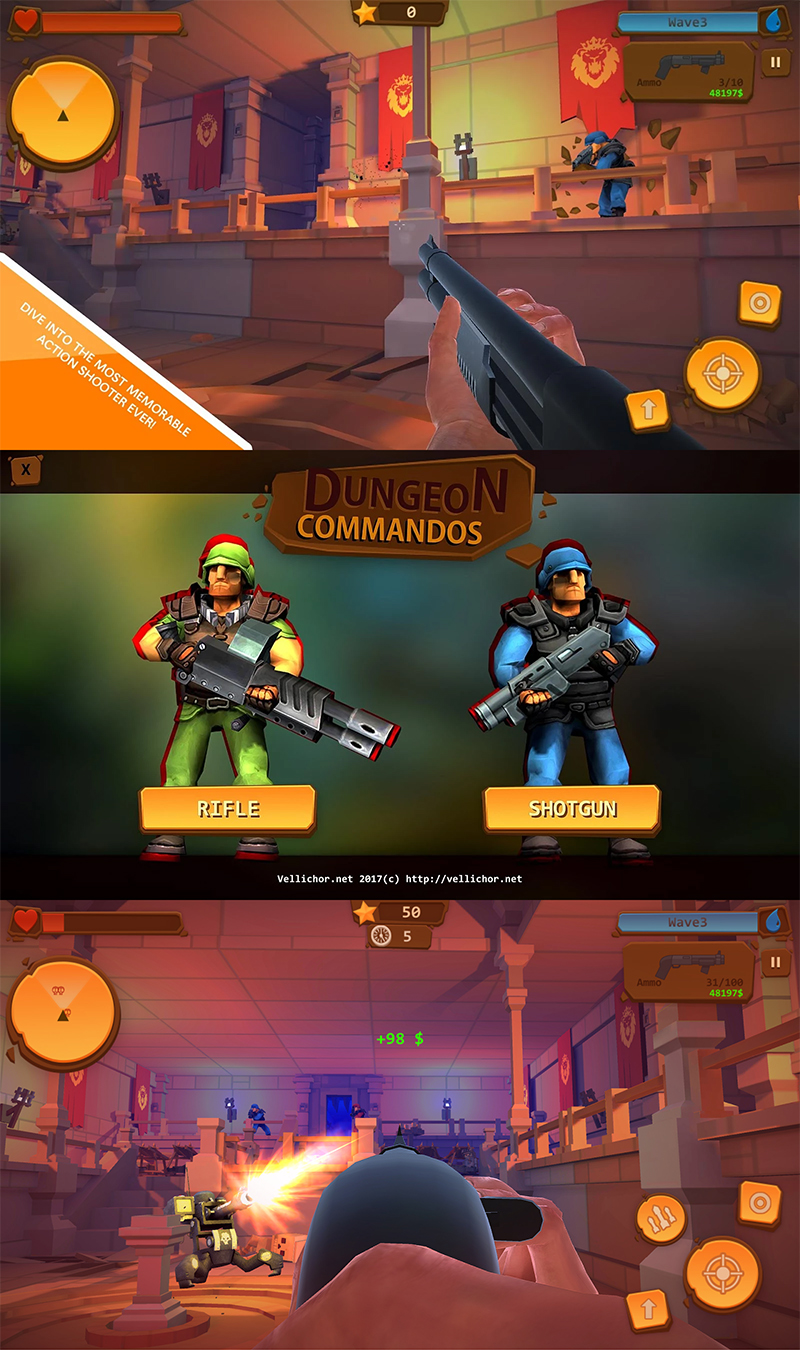 Dungeon Commandos is a pure FPS game - Android Game